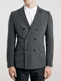 Topman Selected Homme Grey Blazer