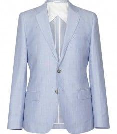 Reiss Nigel B Blazer à armure contrastée Bleu doux