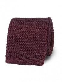 Cravate en tricot bordeaux Tmlewin