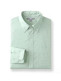 Uniqlo Chemise à manches longues en coton extra-fin pour hommes