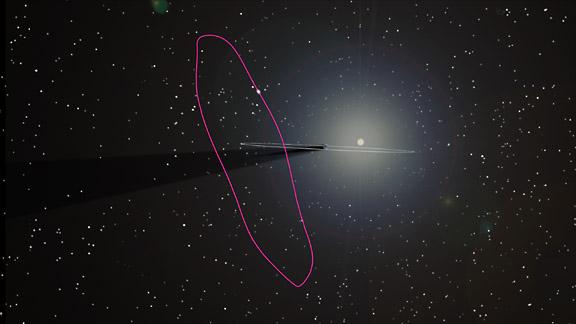 Esempio di orbita Halo intorno L2