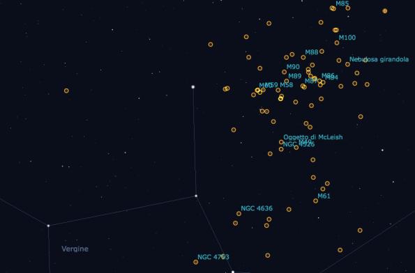Oggetti Messier nella Vergine