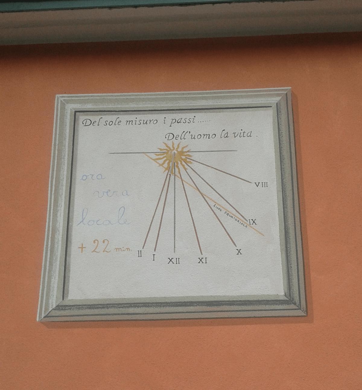 Orologio solare a Cassina - Barzio