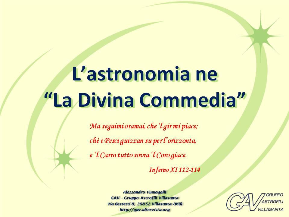 """L'astronomia ne """"La Divina Commedia"""""""