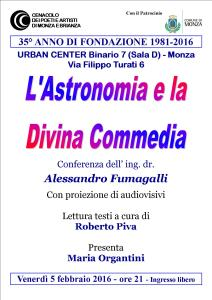 Locandina Dante e Astronomia