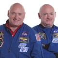 Nasa's twin astronauts Scott and Mark Kelly.