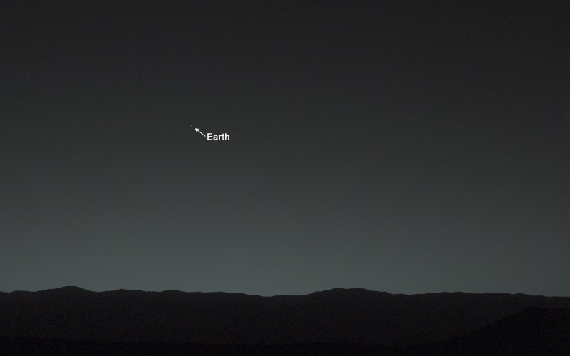 La Terra vista da Marte