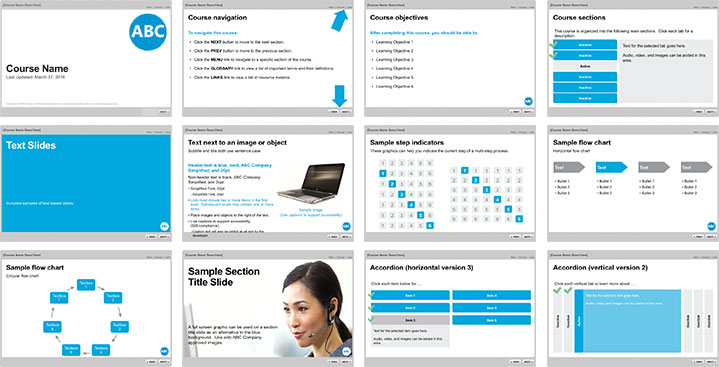 Template Learning. 40 brilliant course starter templates for e ...