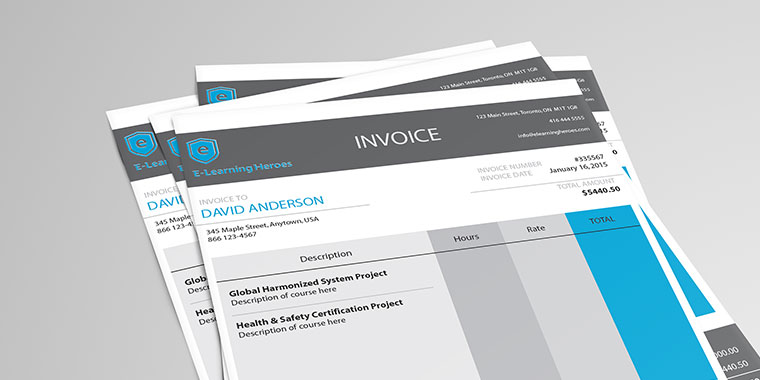 Creative Invoice Examples for E Learning Designers Linda Lorenzetti