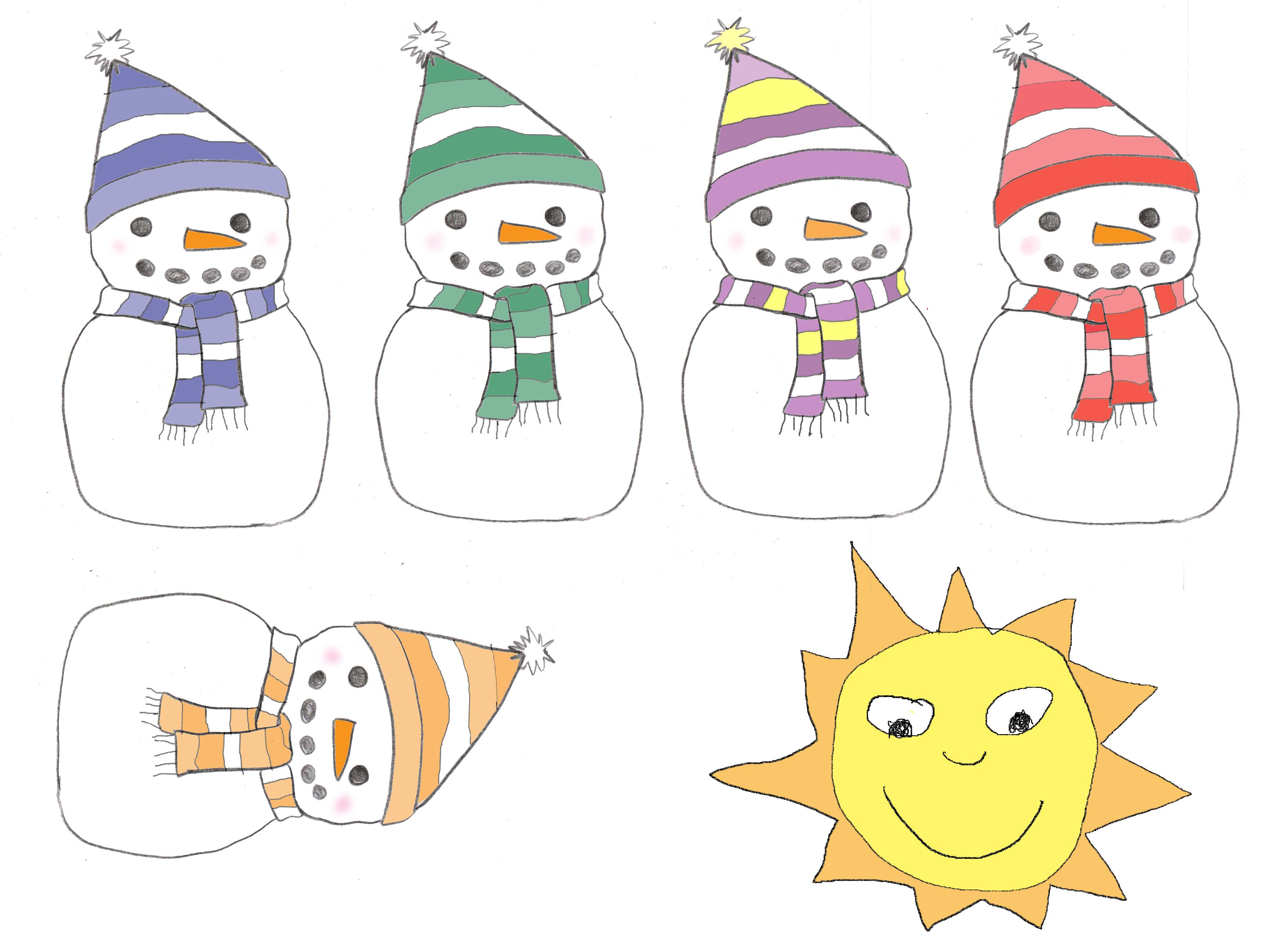 Search Results For Five Little Snowmen Poem Calendar