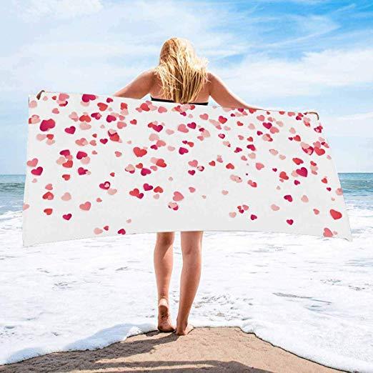 hearts towels