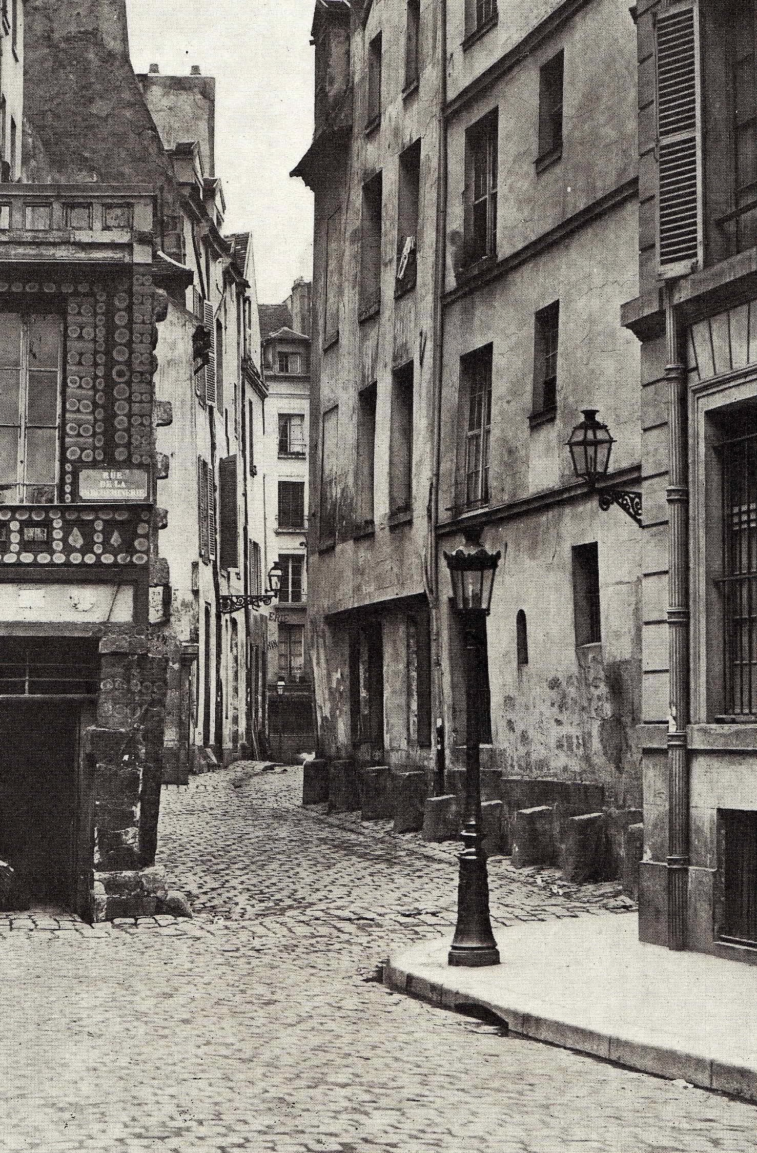 Charles Marville Rue Des Prtres Saint Sverin ART