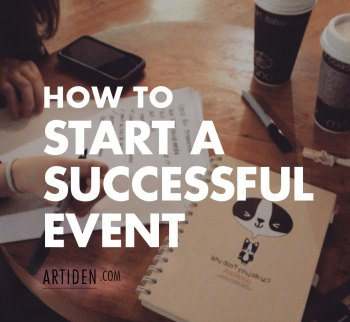 How to Create Your First Event (That People Are Excited About)