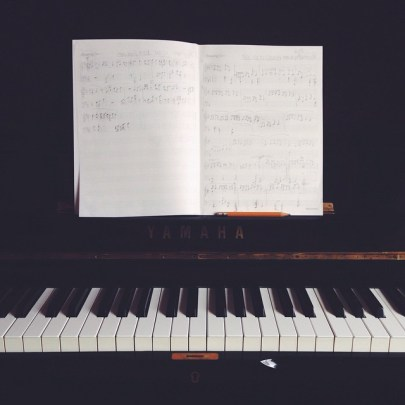 My piano sheet music.