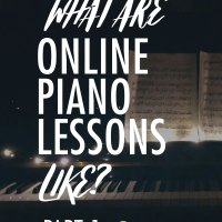 I started teaching online piano lessons.