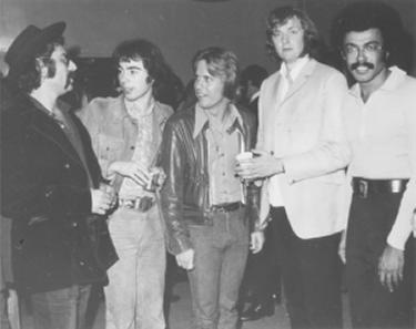 L to R - Allan Rinde, Andrew Lloyd Webber, Don Williams, Tim Rice, Artie Wayne