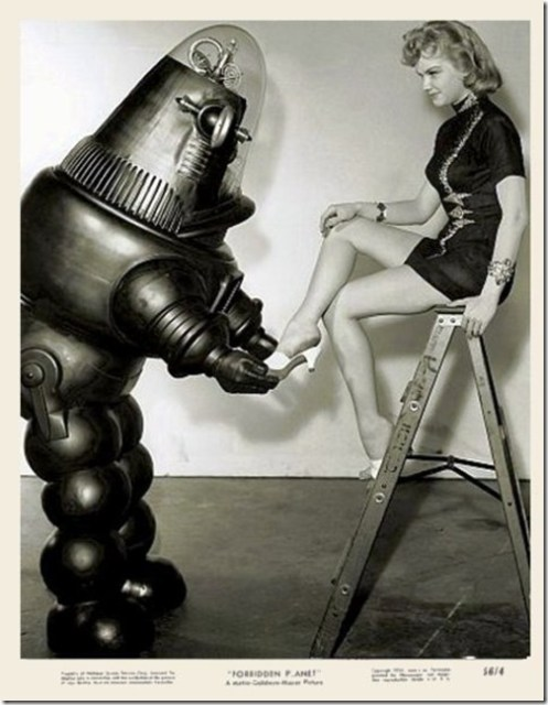 Ann Francis in a promo shot for the 1956 movie Forbidden Planet