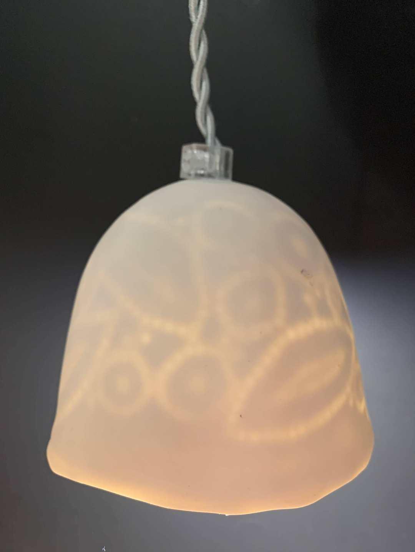 Lampe Dentelle S Noir Mate