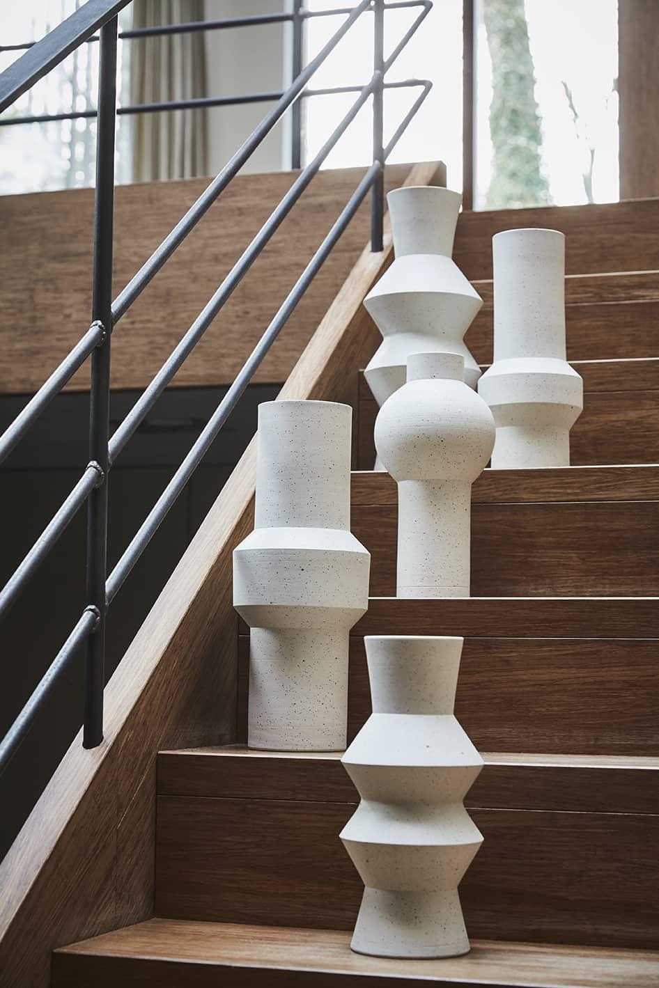Vase en Argile Moucheté Rond
