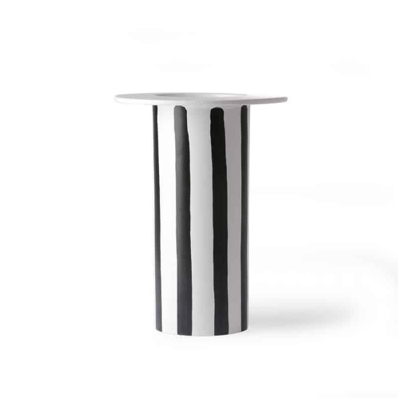 mob boutique.com763vase en ceramique raye noir blanc