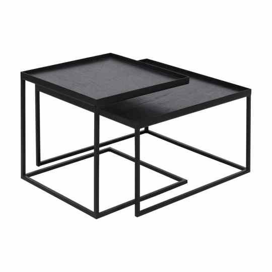 Set de table basse plateau carré S / L