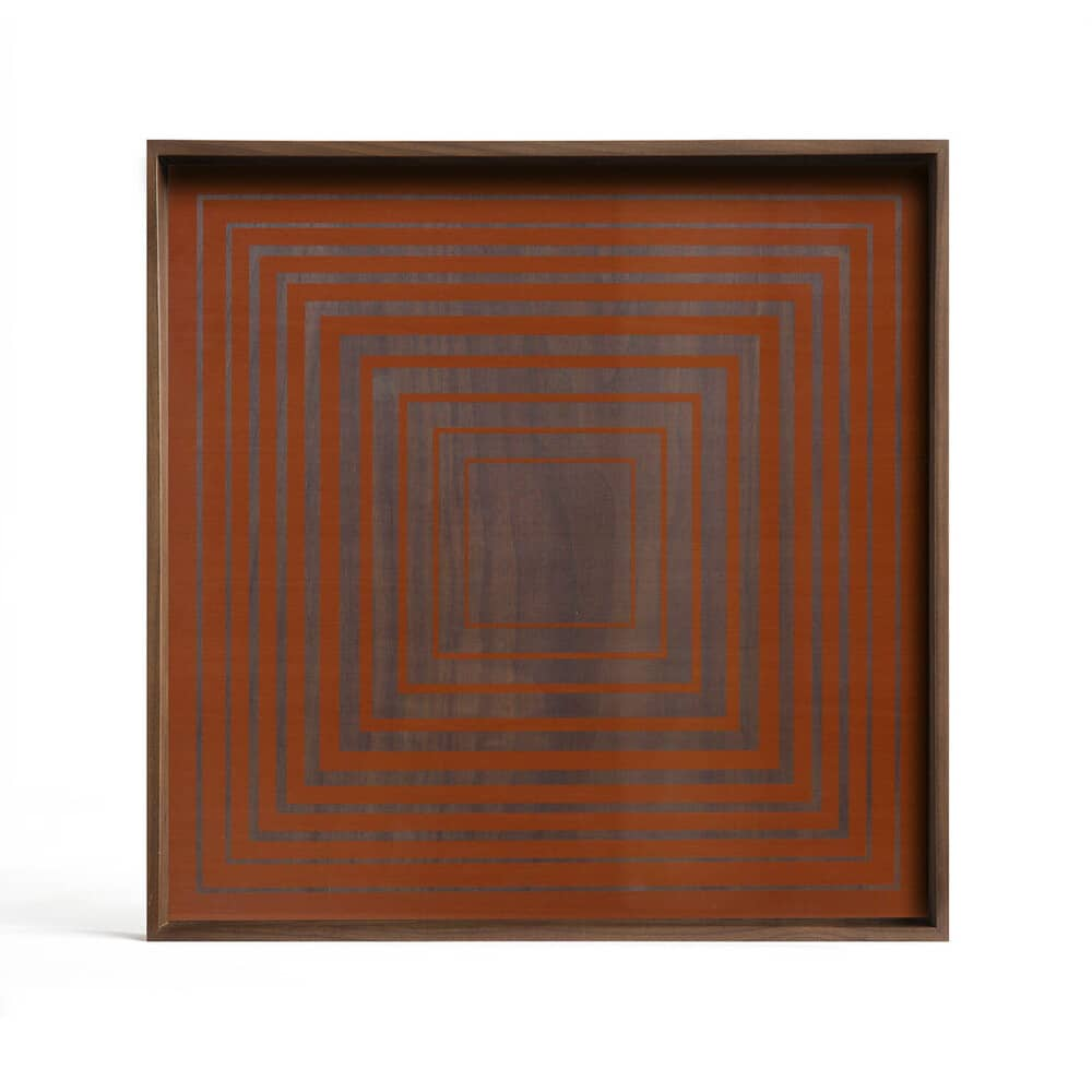 Plateau en verre carré citrouille carré L