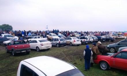 Cientos de artiguenses nacionalistas participan de la marcha de Masoller