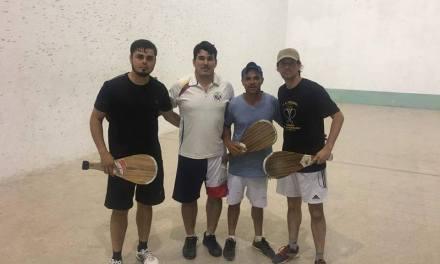 Nicolás y Mario lograron el título de pelota azul en la República Argentina