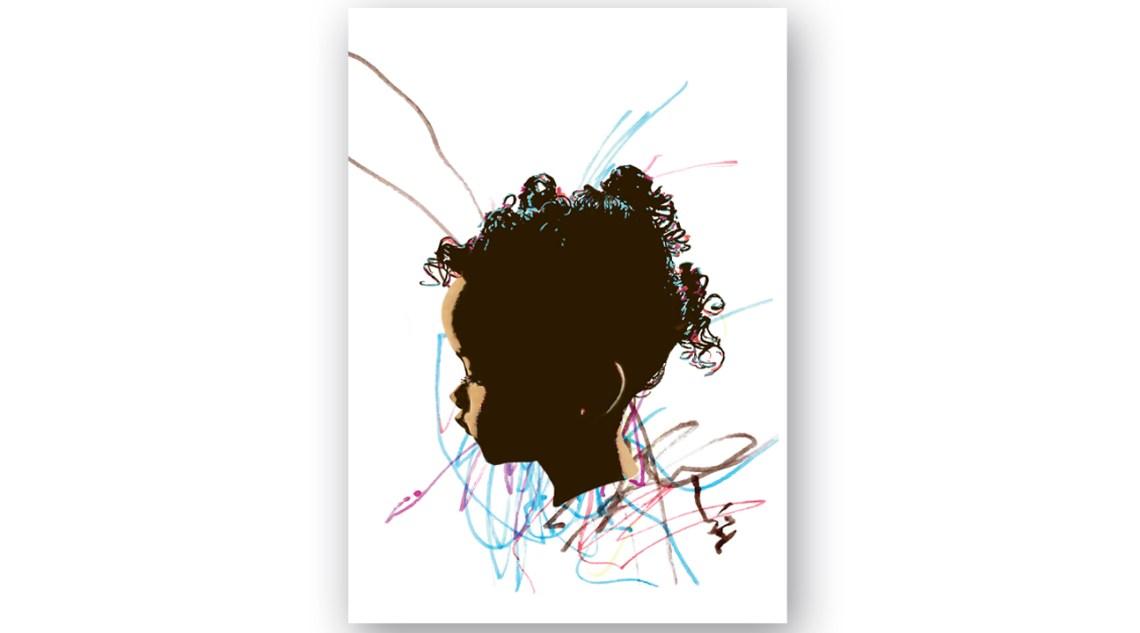 Artigiana Communication Design JDX Designs image for Melanin show toddler profile with her felt tip pen scribbles