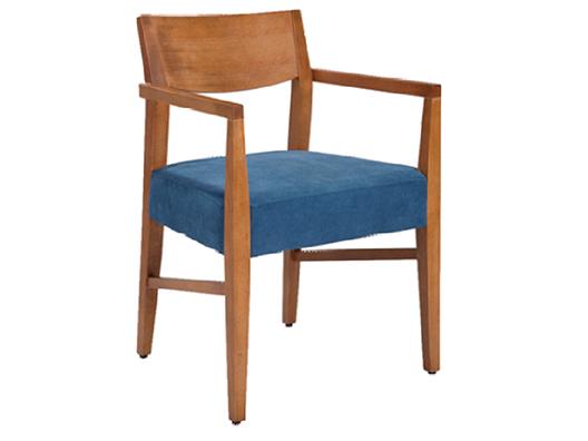 Ahşap kollu sandalye