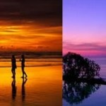 Foto Wedding Bali Latar Belakang Sunset