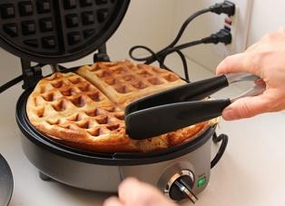 membuat waffle