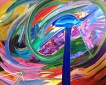 Tourbillon, acrylic, approx. 120 x 100 cm