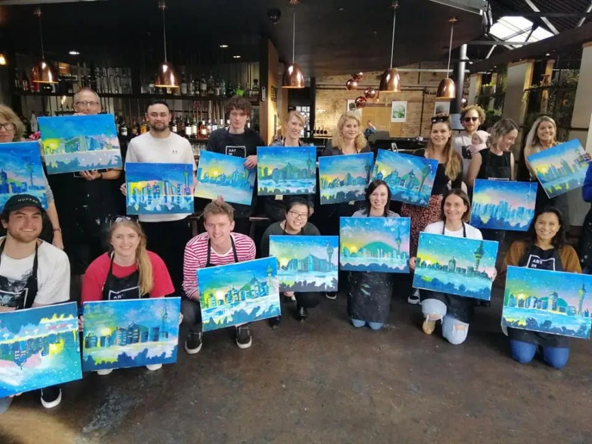 wine and paint social club event