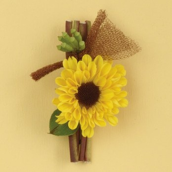 Mini Sunflower Boutonniere