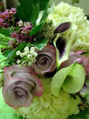 Lauren's bouquet of mauve, ivory and lavender.