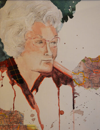Elderly lady resident