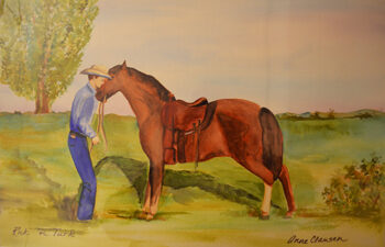 A resident with his horse