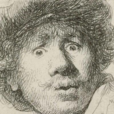 Young Rembrandt-self portrait