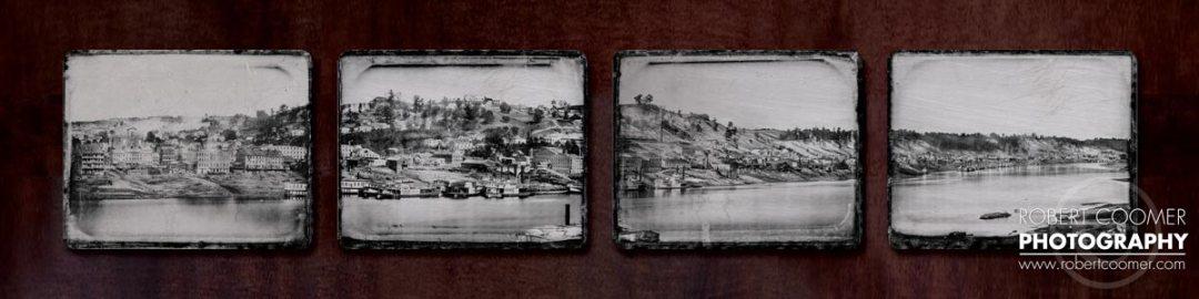 1848 Cincinnati Mount Adams Art Photo on Distressed Steel