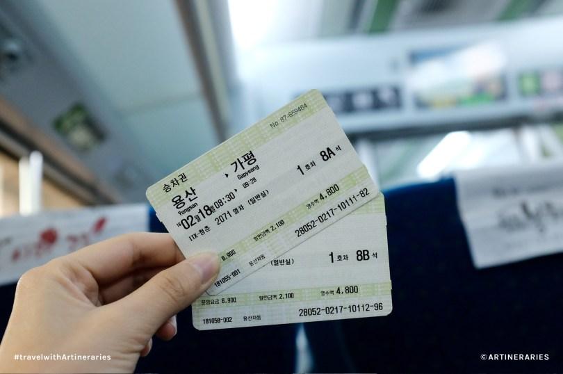 ITX tickets worth 4,800won each. Photo by Ivan Angelo
