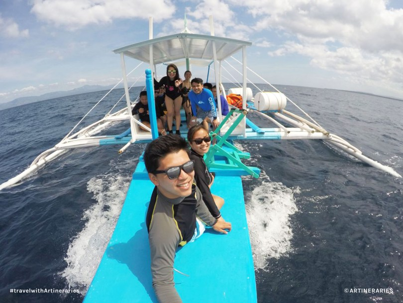 Looking for dolphins in Moalboal, Cebu