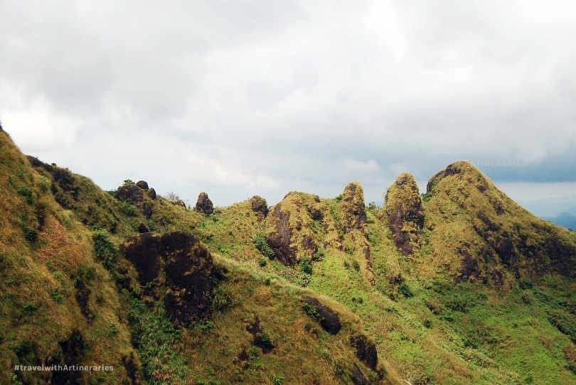 The rocky peaks of Mt. Batulao