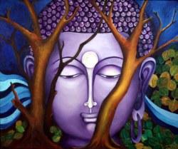 Rachana Joshi God is Omnipresent 36x30 Inch Oil on Canvas