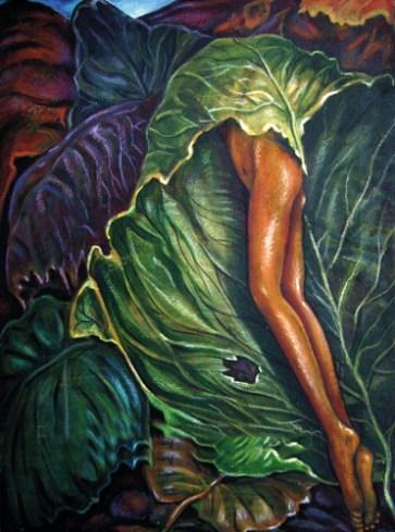 Balwinder Tanwar Revealing Leaves 18x24 Mixed Media on Canvas 2007 30K