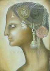 Simret Jandu Foetus Oil on Canvas 18x24 Inches