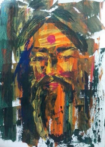 Girija Shankar Sant Acrylic on Paper 18x15 Inches 10K