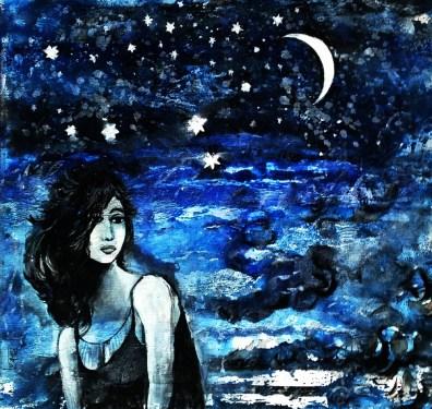 Pankaj Kumar Saxena My Lucky Star Acrylic on Canvas 45X48 cms
