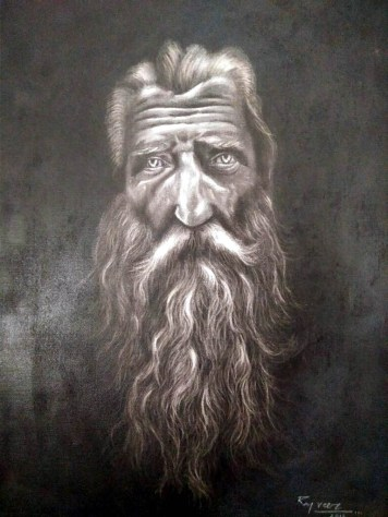 Raj Veer Untitled Charcoal on Paper 24 x 18 Inches