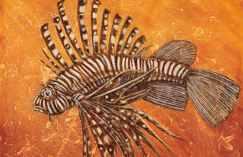 Lion Fish Painting by Robert Ives